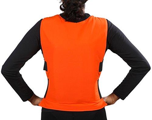 Glacier Tek Sports Cool Vest with Set of 8 Nontoxic Cooling Packs Orange by Glacier Tek (Image #1)