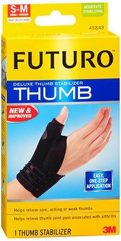 Futuro Deluxe Thumb Stabilizer S-M Moderate, 45483EN - 1 each, Pack of 3