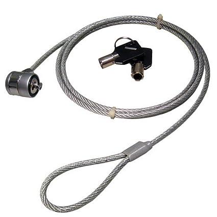 Ordenador Portátil Seguridad Cable Con Barril Bloquear & Llave Para Kensington Espacio
