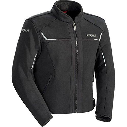 Cortech Men's Fusion Textile Motorcycle Jacket (Black, X-Large) ()