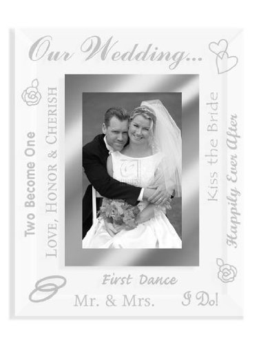 2x3 Wedding Picture Frame BEVELED GLASS TREASURES - Picture Frame