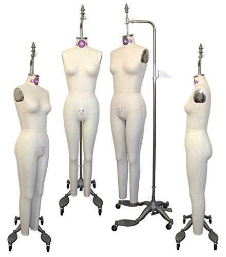 PGM Full Body Dress Form, Collapsible Shoulders, Industry Grade Female Full Body Dress Forms (605A) Sizes 6