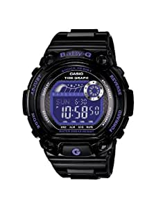 Casio Women's BLX100-1B Baby-G Shock Resistant Glide Black and Blue Multi-Function Watch
