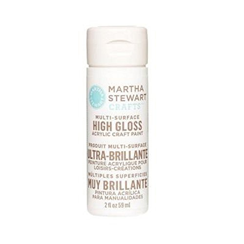 Martha Stewart Crafts Multi-Surface High Gloss Acrylic Craft Paint in Assorted Colors (2-Ounce), 32100 Wedding -