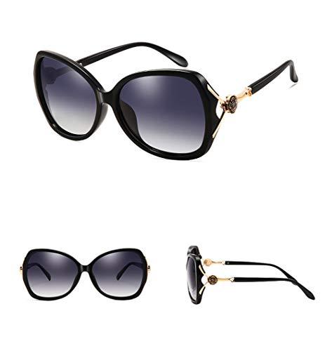 La Gafas Anti Sol De De Moda WJYTYJ Ultravioleta última Gafas Grande La Señoras Polarizada De Tendencia La Caja Negras dqCww6xa