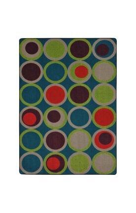 Joy Carpets Kid Essentials Circle Back Teen Area Rugs, 129-I