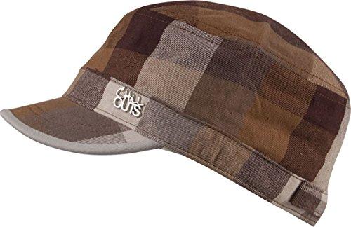 Chillouts vANCOUVER armycap-biker-cap freizeitcap 3 couleurs-marron-grands carreaux- unisexe taille-pRINTEMPS