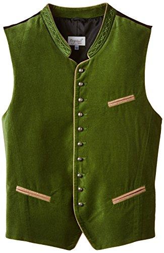 Bergstadl Herren Trachten Trachtenweste 10003S, Gr. X-Small (Herstellergröße: 46), Grün (grün 13)