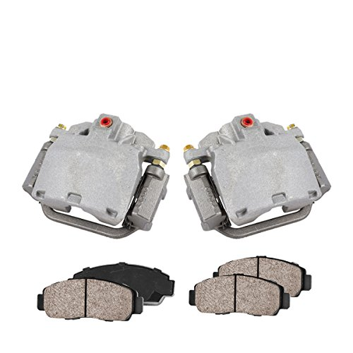 COEK01199 [2] REAR Premium Loaded OE Caliper Assembly Set + Quiet Low Dust Ceramic Brake Pads