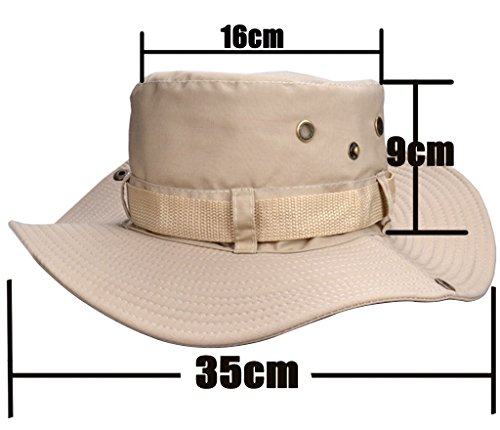 Beileer Élégant chapeau de soleil avec protection UV pour l'extérieur, la pêche, le camping, le cyclisme, la chasse, le… 2