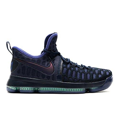 NIKE Zoom KD 9 Men's Basketball Shoes (10.5, Obsidian/Dk Purple Dust-Black) ()