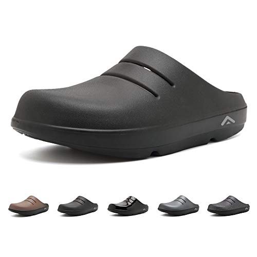 Men & Women Sandals Arch Support Recovery Slipper Sport Clog Ultra Soft Foot Pain Relief Slide Black