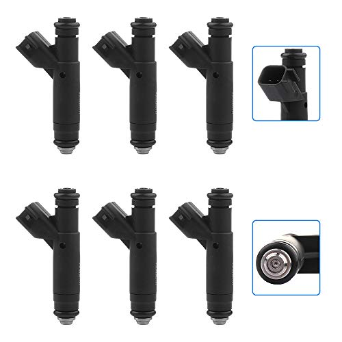 cciyu Injectors, 4 Hole Fuel Injectors Set fit for 2001 2002 2003 2004 2005 Ford Taurus Mercury Sable 3.0 V6,2001 2002 2003 Ford Ranger Mazda B3000 1F1Z9F593DA Injector,6 Pieces