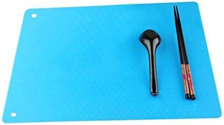 tzebeständige Untersetzer-Topfpfanne, rutschfestes Silikon-Geschirr Tischset Küchenrestaurant Tischmatte Untersetzer(Schwarz)