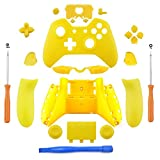 YICHUMY Replacement Matte Yellow Controller Housing Shell Full Set Faceplates Buttons for Xbox One Controller with 3.5mm Jack Xbox One Controller Full Buttons Set Xbox one Replacement Buttons 3.5MM For Sale
