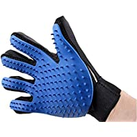 Silicone pet brush Glove Touch Gentle Efficient Pet Grooming Dogs Bath Pet cleaning Supplies Pet Dog Accessories - Blue