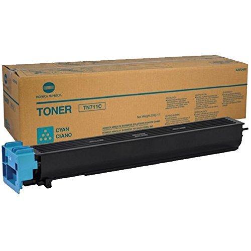 KONICA MINOLTA TN-711C Cyan Original Toner (31,500 Yield)