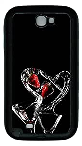 Samsung Galaxy Note II N7100 Cases & Covers - Drinks Heart Custom TPU Soft Case Cover Protector for Samsung Galaxy Note II N7100 - Black