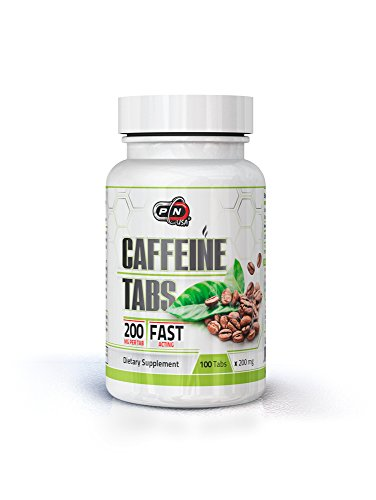 Pure Nutrition USA Caffeine Energy Tabs 200 Mg Anhydrous Pills Best Physical Performance Weight Fat Loss Sports Supplement 100 Tabs