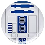Zak! Designs Dinner Plate featuring R2D2 Graphics from Star Wars, Reusable, Break Resistant, BPA-free Melamine, 10