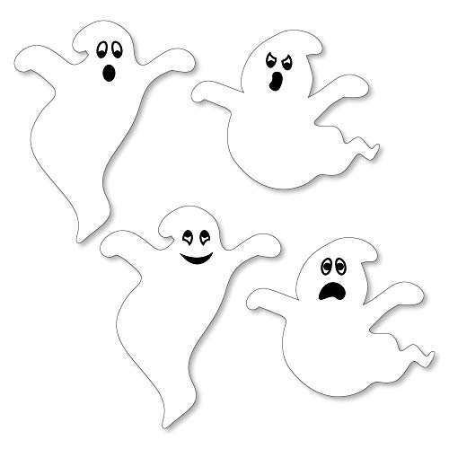 Big Dot of Happiness Spooky Ghost - DIY Shaped Halloween Party Cut-Outs - 24 Count ()