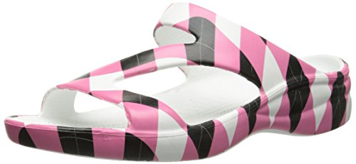 Womens Z DAWGS Pink Loudmouth Black Arch Tile Sandals Support v6wW7ZnP