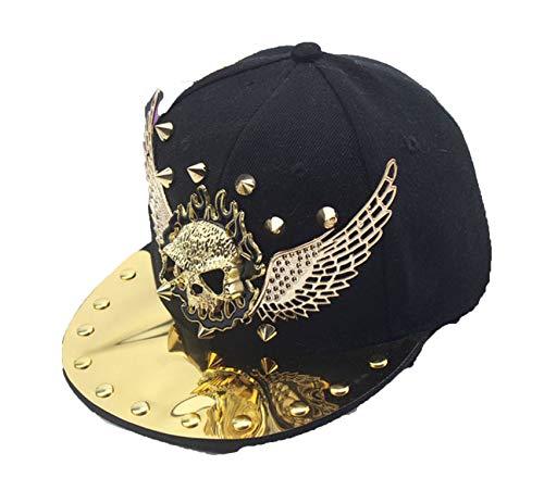 (Cool Punk Rock Metal Skull Head Gorra Hip Hop Caps Boys Girls Baby Cap Baseball Cap Flat Hat)