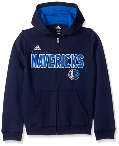 NBA Youth 8-20 Dallas Mavericks Stated Full Zip Hoodie, M(10-12), Dark Navy