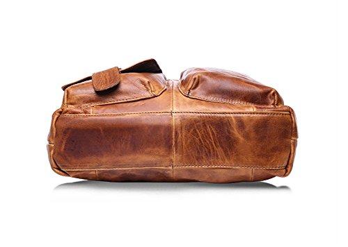 BAO moda hombres Cuero color Bolsos ocasionales Bolsas Chocolate la computadora de para Bolsos para vintage de hombro Crazy Carteras negocios para para Bolsos brown hombres Horseskin r7qE1rw