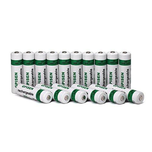 GPISEN AA 2800mAh Ni-MH Rechargeable Batteries 16 Pack