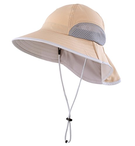 Price comparison product image Connectyle Kids Summer Wide Brim UPF 50+ Mesh Sun Hats with Neck Flap UV Sun Protection Bucket Hat