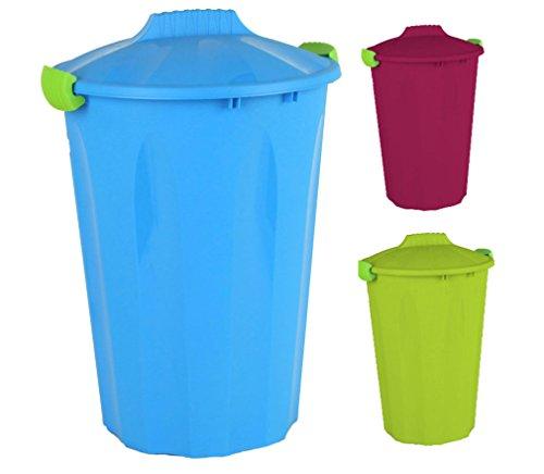 Maxitonne 40 Liter mit feststellbarem Deckel - Universaltonne, Mülltonne in 3 Farben