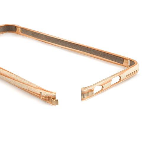 Alienwork Schutzhülle für iPhone 6 Plus/6s Plus Holzoptik Hülle Case Bumper Stoßfest Ultra-flach Aluminium beige AP6SP14-01