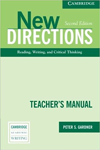 Amazon new directions teachers manual an integrated approach amazon new directions teachers manual an integrated approach to reading writing and critical thinking cambridge academic writing collection fandeluxe Choice Image