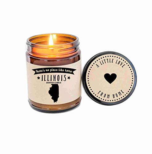 Illinois Scented Candle State Candle Homesick Gift No Place Like Home Thinking of You Holiday Gift