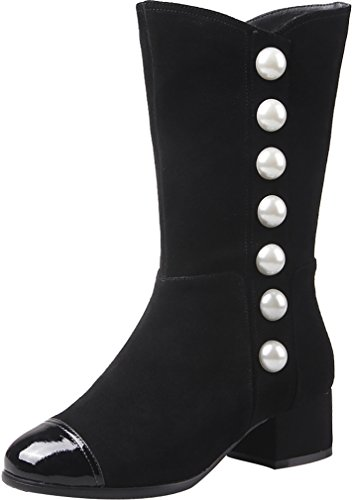 ELEHOT Womens Eleblankj 5CM mid-heel Boots, Black, 8.5