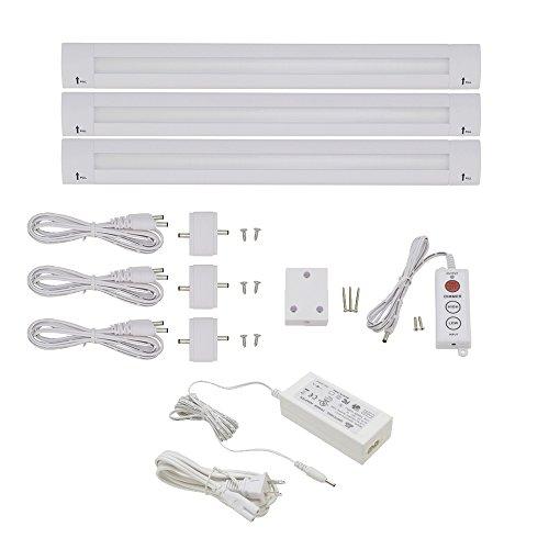 - Lightkiwi J8966 Lilium 12 Inch Warm White Modular LED Under Cabinet Lighting - Premium Kit (3 Panel)