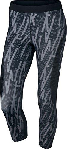 Nike Pro Hypercool Women's Printed Capri Leggings (Small, Black)