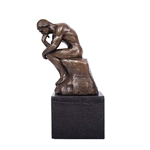 (Toperkin Classical Rodin Statue Thinker Bronze Sculpture Home Decor Art Craft TPE-185)