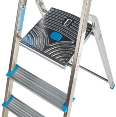 Mac Allister (4 peldaños), de aluminio y acero, (H) 2520 mm: Amazon.es: Bricolaje y herramientas