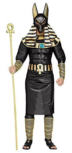 Anubis Egyptian God Men's Adult Halloween Costume Jackal Death Standard (Anubis Halloween Costume)