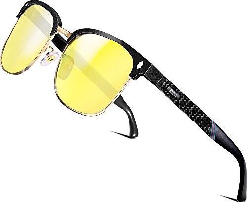 Polarizzate Attcl Telaio Uomo Visione cerchiato Sole Occhiali Semi In Super mg Metallo Al Notturna Leggero Da fUTIqpxnwT