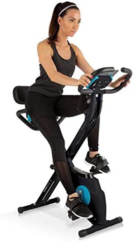 Klarfit Azura Plus Black Edition - Bicicleta Estática 3 en 1 - Bicleta de gimnasio, Ejercicio fitness, Transmisión por correa, Frecuencia Cardíaca, Resistencia magnética 8 etapas, Soporte, Negro: Amazon.es: Deportes y aire libre