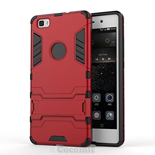 for Huawei P8 lite Case, Cocomii Iron Man Armor New [Heavy Duty] Premium Tactical Grip Kickstand Shockproof Hard Bumper Shell [Military Defender] Full Body Dual Layer Rugged Cover ALE-L21 ()