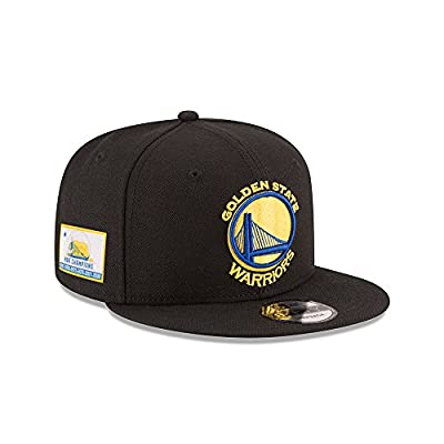 New Era Golden State Warriors 6X NBA CHAMPIONS 9Fifty Snapback Adjustable Hat –Black from New Era