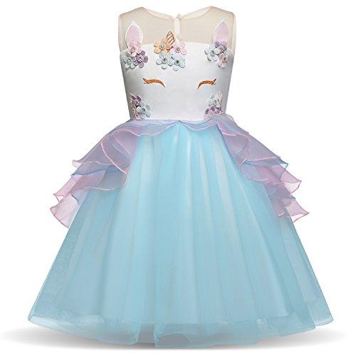 Unicorn Costume for Girls Dress Up Clothes for Little Girls Rainbow Unicorn Tutu with Headband Birthday Gift ()