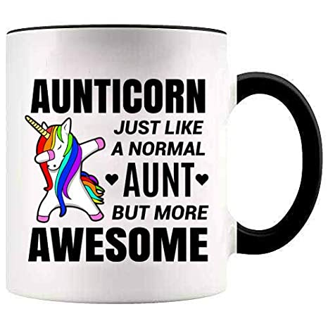 Amazon.com: YouNique Designs Taza de unicornio para tía ...