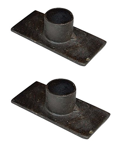 Black Iron Taper Candle Holder, Set of 2 by CWI (Holder Candlestick Candle)