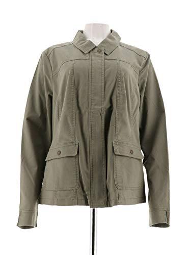Liz Claiborne New York Zipper Front Safari Jacket Bayleaf Green 18W A263464 from Liz Claiborne New York