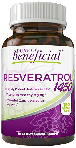 41KVo4VFjFL - RESVERATROL1450-90day Supply, 1450mg per Serving of Potent Antioxidants & Trans-Resveratrol, Promotes Anti-Aging, Cardiovascular Support, Maximum Benefits